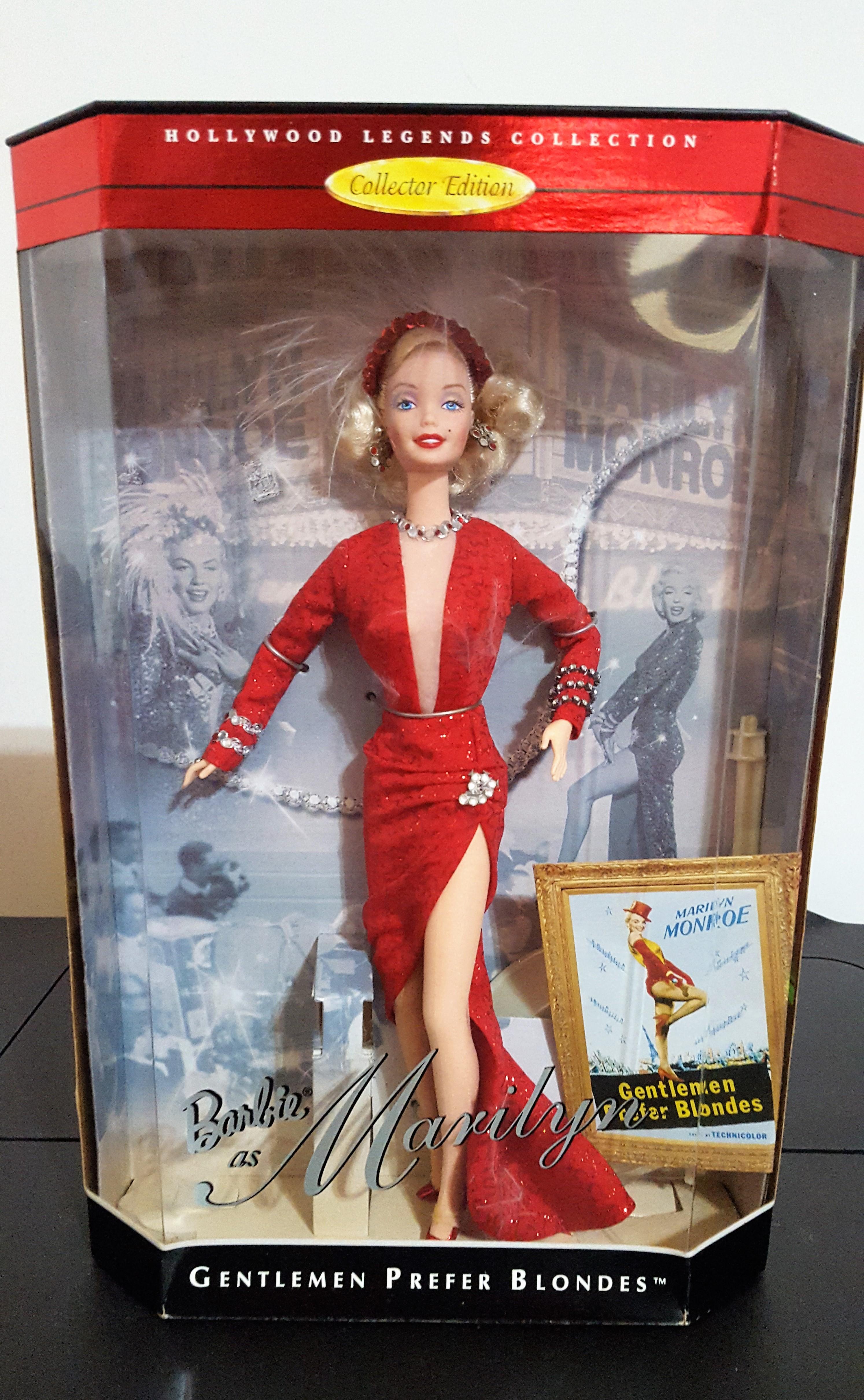 Marilyn Monroe Gentlemen Prefer Blodes shop mattel usa import nrfb